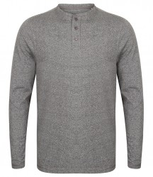 Image 4 of Front Row Washed Long Sleeve Henley T-Shirt