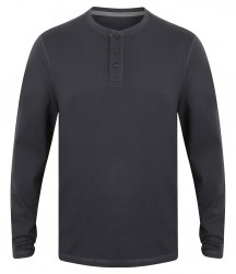Image 5 of Front Row Washed Long Sleeve Henley T-Shirt