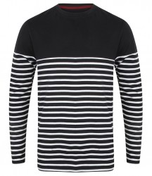 Image 2 of Front Row Long Sleeve Breton Striped T-Shirt