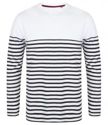 Image 3 of Front Row Long Sleeve Breton Striped T-Shirt