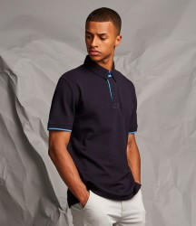 Front Row Contrast Cotton Piqué Polo Shirt image