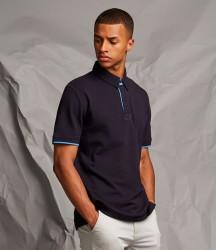 Front Row Contrast Cotton Piqué Polo Shirt image