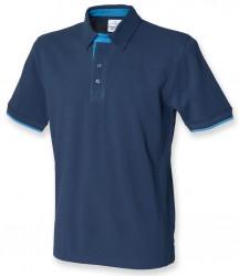 Image 2 of Front Row Contrast Cotton Piqué Polo Shirt