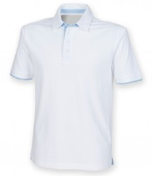 Image 3 of Front Row Contrast Cotton Piqué Polo Shirt