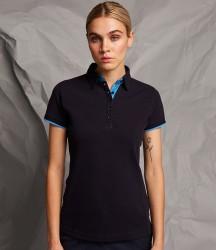 Front Row Ladies Contrast Cotton Piqué Polo Shirt image