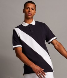 Front Row Diagonal Stripe Cotton Piqué Polo Shirt image