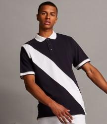 Front Row Diagonal Stripe Cotton Piqué Polo Shirt image