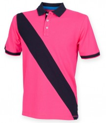 Image 2 of Front Row Diagonal Stripe Cotton Piqué Polo Shirt