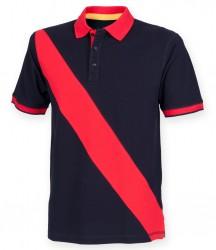 Image 3 of Front Row Diagonal Stripe Cotton Piqué Polo Shirt