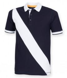 Image 4 of Front Row Diagonal Stripe Cotton Piqué Polo Shirt