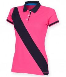 Image 2 of Front Row Ladies Diagonal Stripe Cotton Piqué Polo Shirt