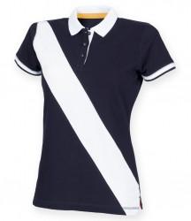 Image 4 of Front Row Ladies Diagonal Stripe Cotton Piqué Polo Shirt