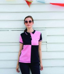 Front Row Ladies Quartered Cotton Piqué Polo Shirt image