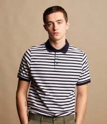 Front Row Striped Jersey Polo Shirt image