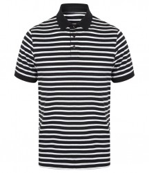 Image 2 of Front Row Striped Jersey Polo Shirt