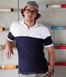 Front Row Contrast Stretch Piqué Polo Shirt image