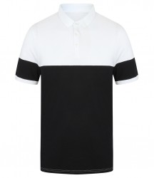 Image 3 of Front Row Contrast Stretch Piqué Polo Shirt