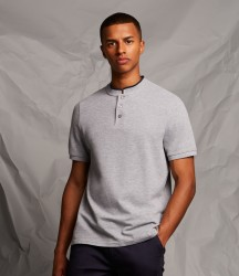 Front Row Stand Collar Stretch Polo Shirt image
