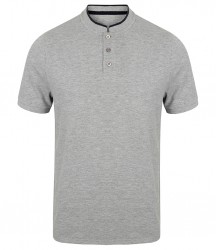 Image 2 of Front Row Stand Collar Stretch Polo Shirt
