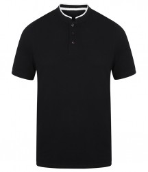 Image 3 of Front Row Stand Collar Stretch Polo Shirt
