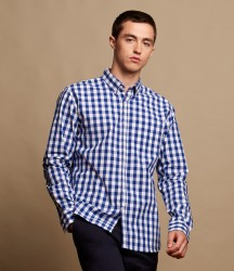Front Row Long Sleeve Checked Cotton Shirt image