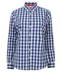 Image 2 of Front Row Ladies Long Sleeve Checked Cotton Shirt