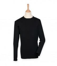 Front Row Cable Knit Crew Neck Jumper image