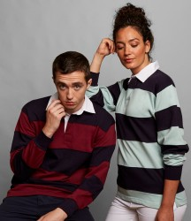 Front Row Sewn Stripe Rugby Shirt image
