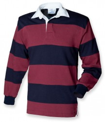 Image 2 of Front Row Sewn Stripe Rugby Shirt