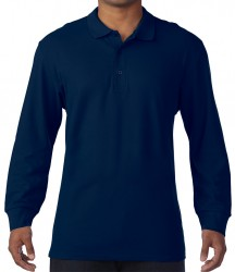 Image 3 of Gildan Long Sleeve Premium Cotton® Double Piqué Polo Shirt