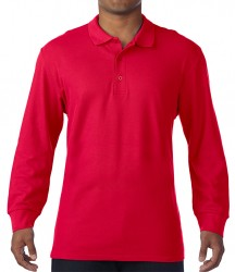Image 4 of Gildan Long Sleeve Premium Cotton® Double Piqué Polo Shirt