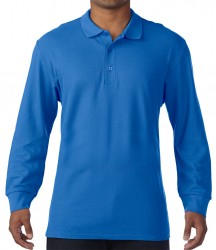 Image 5 of Gildan Long Sleeve Premium Cotton® Double Piqué Polo Shirt