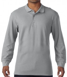 Image 6 of Gildan Long Sleeve Premium Cotton® Double Piqué Polo Shirt