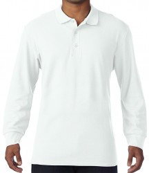 Image 7 of Gildan Long Sleeve Premium Cotton® Double Piqué Polo Shirt