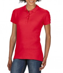 Image 4 of Gildan Ladies SoftStyle® Double Piqué Polo Shirt