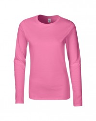 Image 3 of Gildan Ladies SoftStyle® Long Sleeve T-Shirt