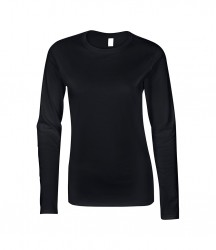 Image 2 of Gildan Ladies SoftStyle® Long Sleeve T-Shirt