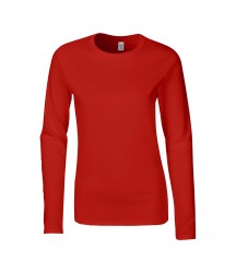 Image 4 of Gildan Ladies SoftStyle® Long Sleeve T-Shirt