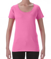 Gildan Ladies SoftStyle® Deep Scoop T-Shirt image
