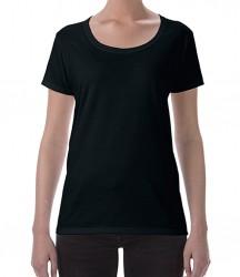 Image 2 of Gildan Ladies SoftStyle® Deep Scoop T-Shirt