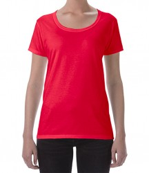 Image 4 of Gildan Ladies SoftStyle® Deep Scoop T-Shirt