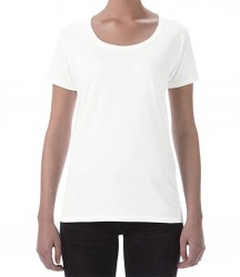 Image 6 of Gildan Ladies SoftStyle® Deep Scoop T-Shirt