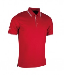 Image 3 of Glenmuir Tipped Piqué Polo Shirt