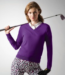 Glenmuir Ladies V Neck Cotton Sweater image