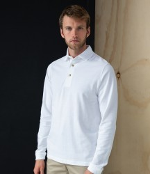 Henbury Long Sleeve Cotton Piqué Polo Shirt image