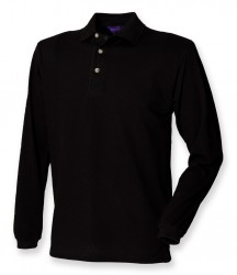 Henbury Long Sleeve Cotton Piqué Polo Shirt image