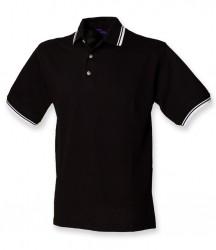 Image 2 of Henbury Contrast Double Tipped Cotton Piqué Polo Shirt