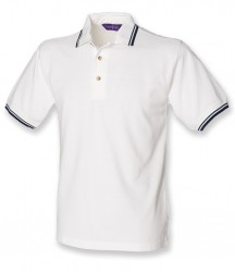 Image 5 of Henbury Contrast Double Tipped Cotton Piqué Polo Shirt