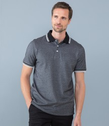 Henbury Two Tone Tipped Piqué Polo Shirt image
