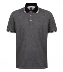 Image 2 of Henbury Two Tone Tipped Piqué Polo Shirt